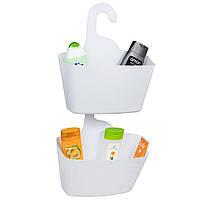 Корзинки для душа Tatkraft Posh для хранения ванных принадлежностей набор 2 шт белые 28x31x12 см (1