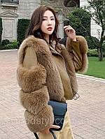 Жіноча модна коротка хутряна куртка лисиця 4 кольори