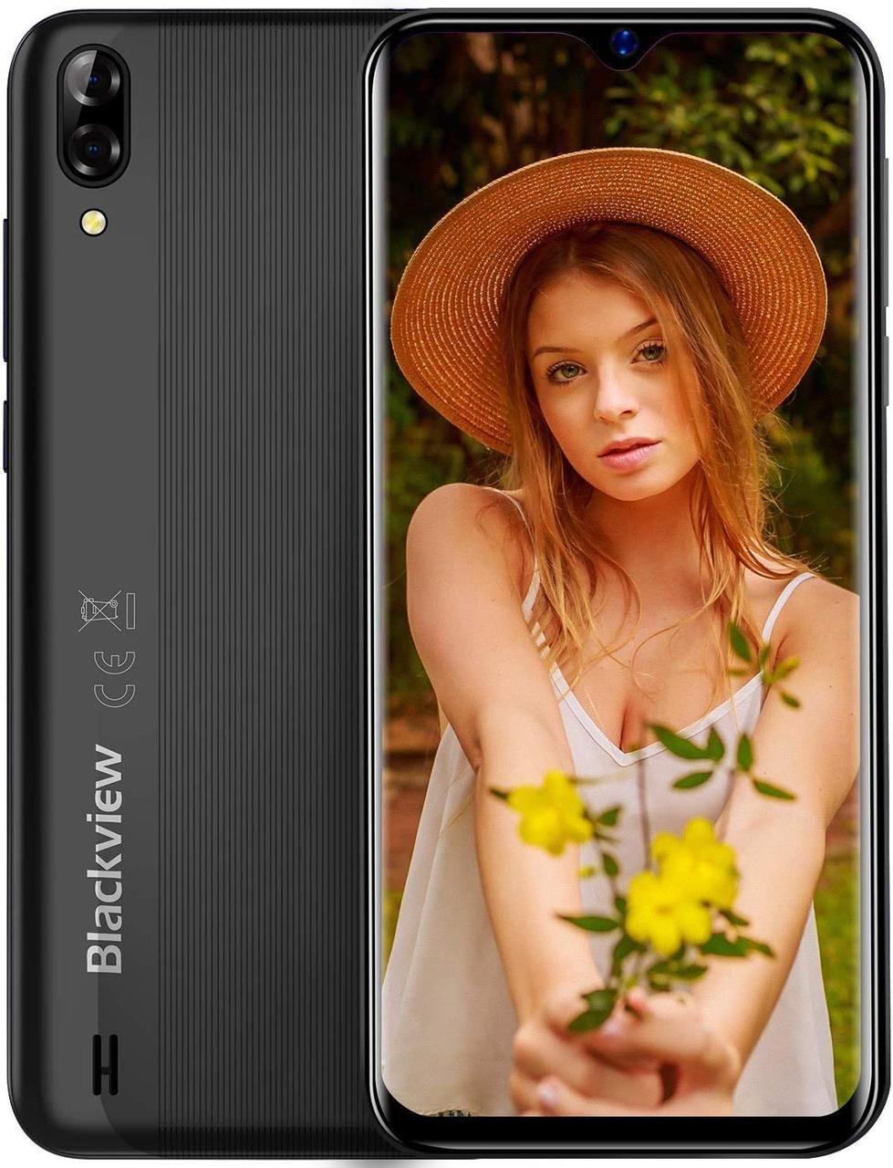 "Смартфон Blackview A60 1/16GB 6,1"" 4080 маг Black"