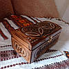 Шкатулка деревянная резная 21*10.5 для украшений, ручная работа, фото 6