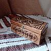 Шкатулка деревянная резная 21*10.5 для украшений, ручная работа, фото 3