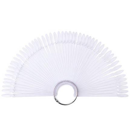 Палитра веер на кольце для 50 образцов лака дизайна ногтей, прозрачная, фото 2
