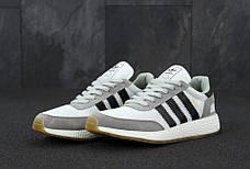 Мужские кроссовки в стиле Adidas Iniki Runner Grey/White/Black, фото 2