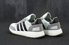 Мужские кроссовки в стиле Adidas Iniki Runner Grey/White/Black, фото 3