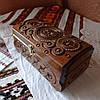 Шкатулка деревянная резная 21*11 для украшений, ручная работа, фото 5