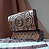 Шкатулка деревянная резная 21*11 для украшений, ручная работа, фото 2