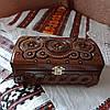 Шкатулка деревянная резная 21*11 для украшений, ручная работа, фото 4