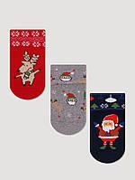 Дитячі махрові шкарпетки з отворотным манжетиком Bross (за 1 пару), фото 1