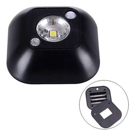LED светильник лампа с датчиком движения и фоторезистором, черный, фото 2