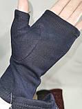 Трикотаж без пальцев женские перчатки Эластичный(только ОПТ), фото 3