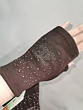Трикотаж без пальцев женские перчатки Эластичный(только ОПТ), фото 2