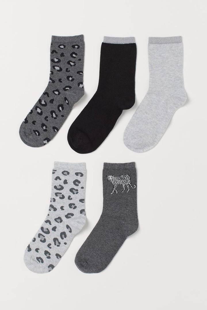 Набір дитячих шкарпеток 5 пар HM для дівчинки