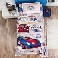 Подростковое постельное белье с вафельным покрывалом для мальчика Турция Aran Clasy Garage