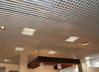 Потолок Грильято 50х50х40 белый оцинкованный Open-cell