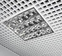 Алюминиевые решетчатые потолки ГРИЛЬЯТО 86х86 белый