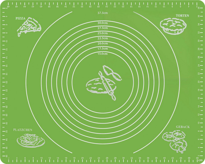 Антипригарный коврик силиконовый для выпечки и раскатки теста 50x40 см 2Life Зеленый (n-332)