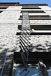 Лестница навесная спасательная универсальная Uniladder 2L-1000 Silver усиленные крюки (n-144), фото 6
