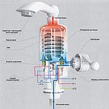 Проточный водонагреватель электрический Delimano 3000 Вт White с аэратором поворотным (n-37), фото 3
