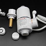 Проточный водонагреватель электрический Delimano 3000 Вт White с аэратором поворотным (n-37), фото 4