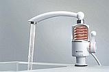 Проточный водонагреватель электрический Delimano 3000 Вт White с аэратором поворотным (n-37), фото 6