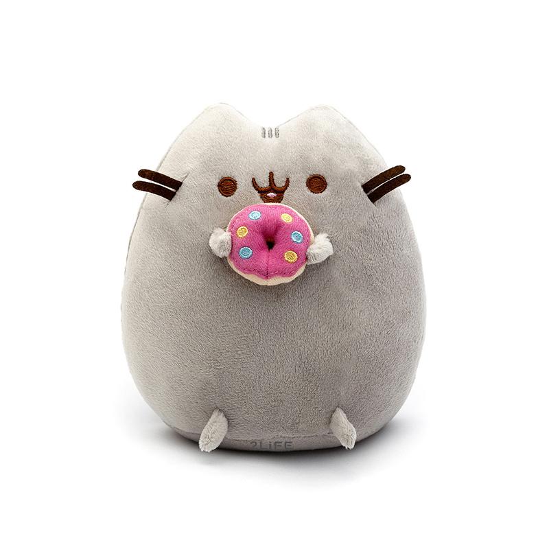 Мягкая игрушка кот с пончиком Pusheen cat 2Life Gray (n-71)