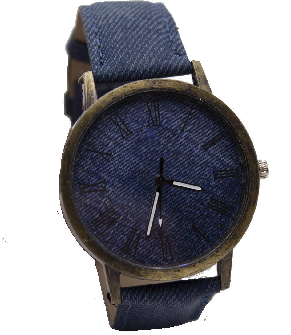 Часы джинсовые наручные 2Life Синий (n-450)
