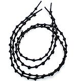 Эластичные шнурки с узелками с металлическими фиксаторами концов шнурка 2Life Черный (n-502), фото 4