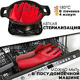 Перчатки силиконовые многофункциональные уборка, чистка, мытье посуды, ухваты 2Life Красные (n-529), фото 3