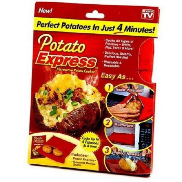 Мешочек для запекания картофеля Potato Express Красный (n-547)