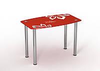 Стол Sentenzo Фламенко 900x650x750 мм Белый + Красный 236631386, КОД: 1556451