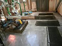 Устройство искробезопасных промышленных полов толщиной от 8 до 40 мм на основе магнезита