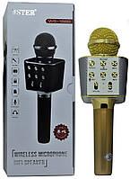 Мікрофон караоке для дітей Wster WS-1688 Gold