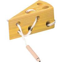 Сыр, развивающая игра-шнуровка, BINO (84065)