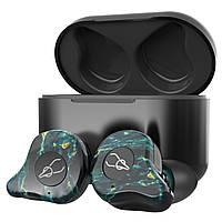 Беспроводные Bluetooth наушники Sabbat E12 Ultra Dream Stone c поддержкой aptX (Черно-зеленый), фото 1