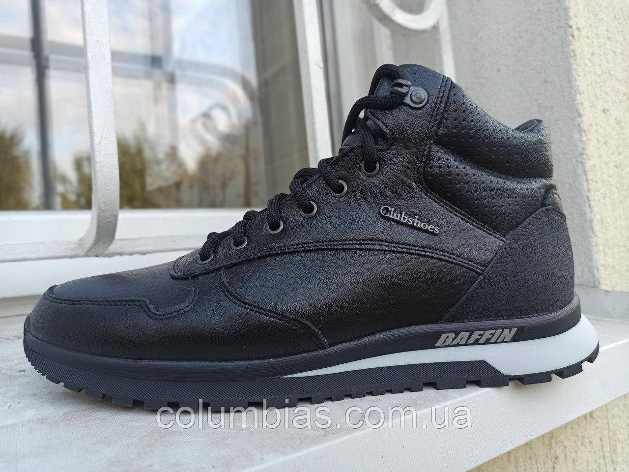 Зимняя мужская обувь, ботинки snoy boots baffin, чёрные кожаные