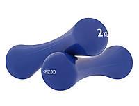Гантели для фитнеса виниловые 4FIZJO 2 x 2 кг 4FJ0192. Гантели цельные, неразборные для спорта