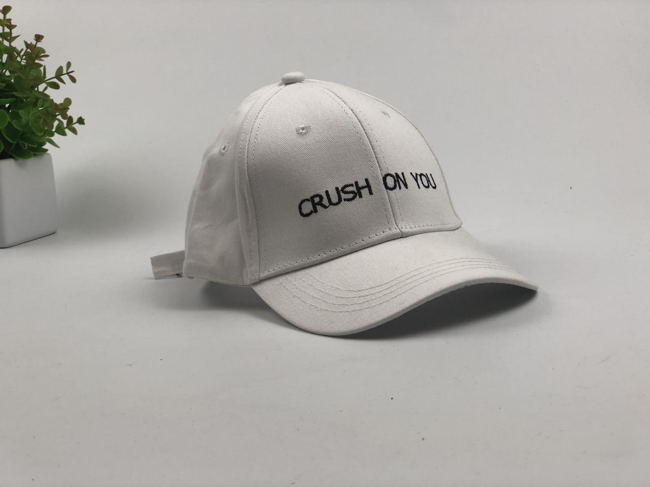 Кепка Бейсболка Мужская Женская City-A с надписью Crush On You Белая