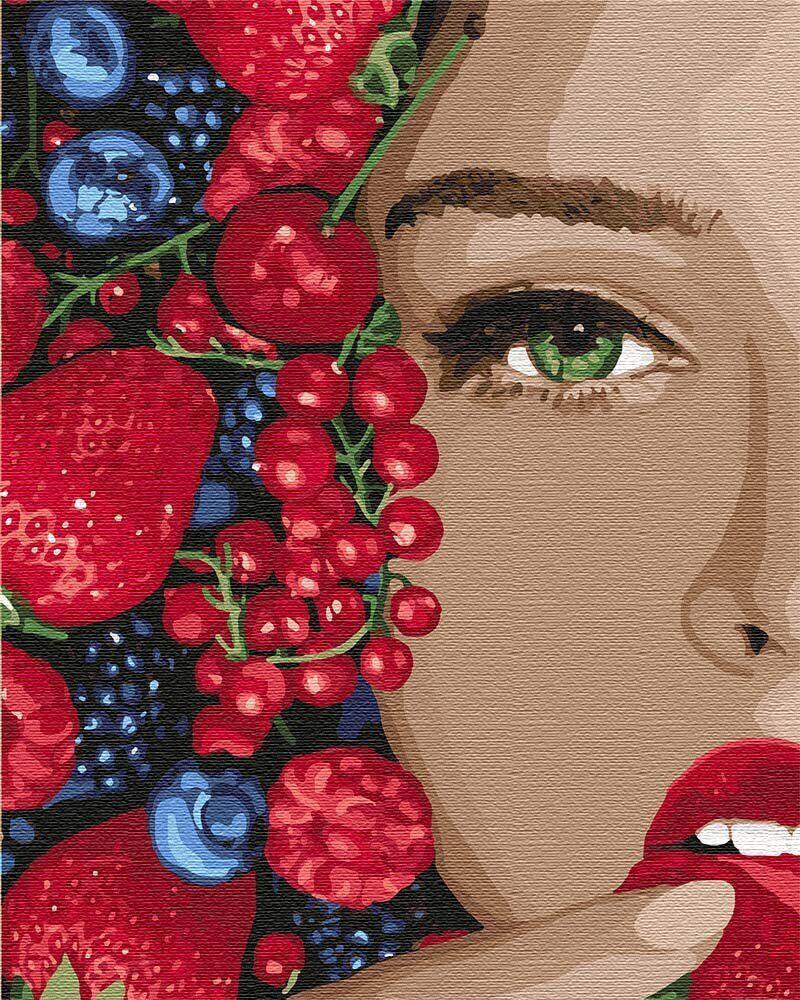 KH4739 Картина для рисования по номерам Сочные ягодки, В картонной коробке