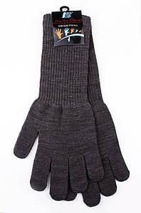Перчатки подросток с длинным манжетом серые AAA 123593P