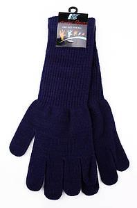 Перчатки подросток с длинным манжетом темно-синие AAA 123594P