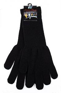 Перчатки подросток с длинным манжетом черные AAA 123588P
