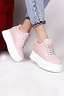 Кросовки женские светло-розовые AAA 55-122