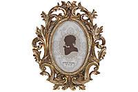Рамка для фото овальная, 26.5см, цвет - золотой, размер фото - 10*15см (450-198)