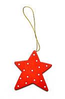Новогоднее украшение Звездочка красная