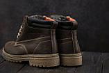 Мужские ботинки кожаные зимние коричневые Accord БОТ, фото 3