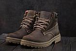 Мужские ботинки кожаные зимние коричневые Accord БОТ, фото 4