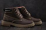 Мужские ботинки кожаные зимние коричневые Accord БОТ, фото 5