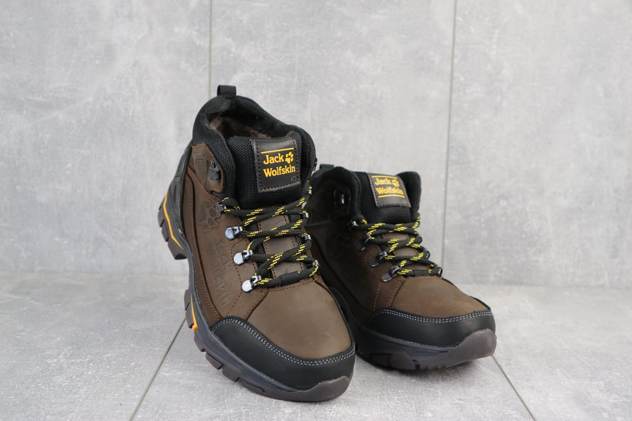 Мужские ботинки кожаные зимние коричневые AND 132 -6 Jack Wolf