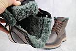 Мужские ботинки кожаные зимние коричневые Riccone 515, фото 5