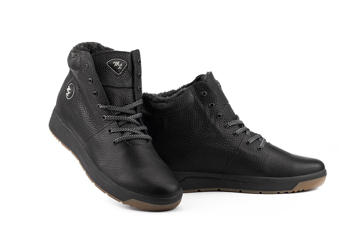 Мужские ботинки кожаные зимние черные Milord Olimp B